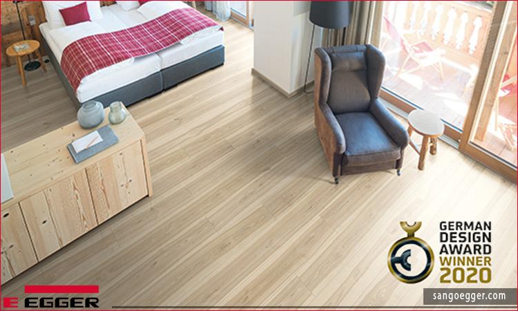 """Trang trí gỗ Tegern Ash, đã được trao giải thưởng """"Người chiến thắng"""", trông rất đẹp với tông màu tự nhiên nhẹ nhàng"""