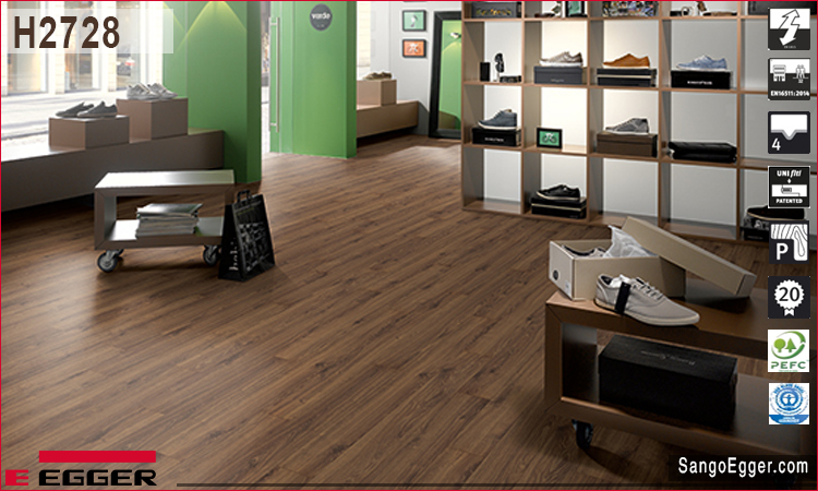 Nhà mẫu lắp sàn gỗ H2728 Egger 11mm