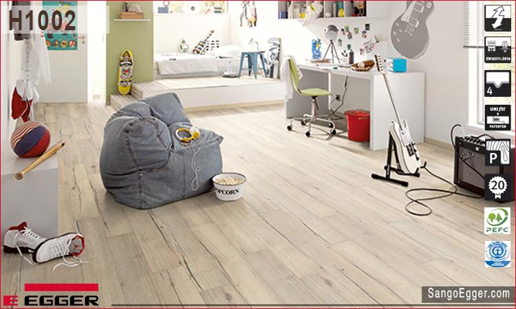 Nhà lắp sàn gỗ Egger mã H1002 Aqua Plus