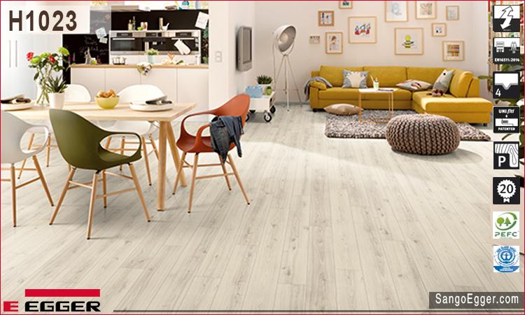 Nhà mẫu lắp sàn gỗ H1023 Egger