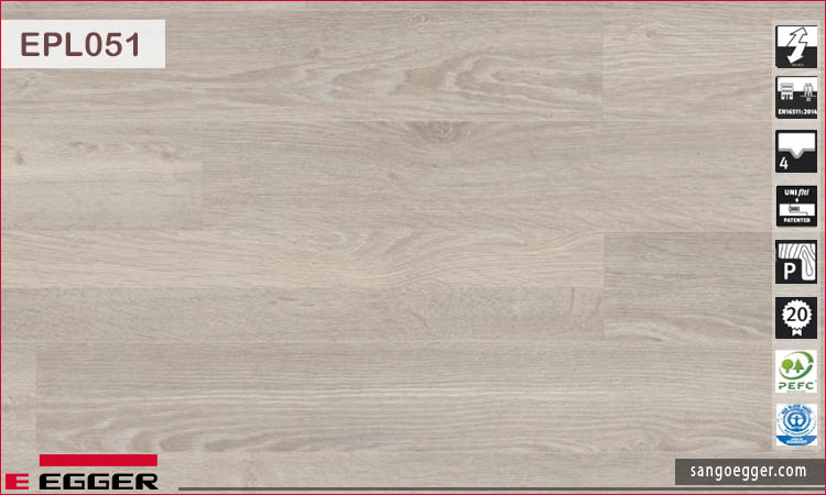 Sàn gỗ Egger Pro 10mm EPL051 White Corton Oak