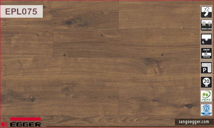 Sàn gỗ Egger EPL075 10mm Dark Dunnington Oak