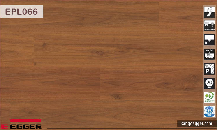 Sàn gỗ Egger Pro Aqua Plus EPL066 Red Langley Walnut