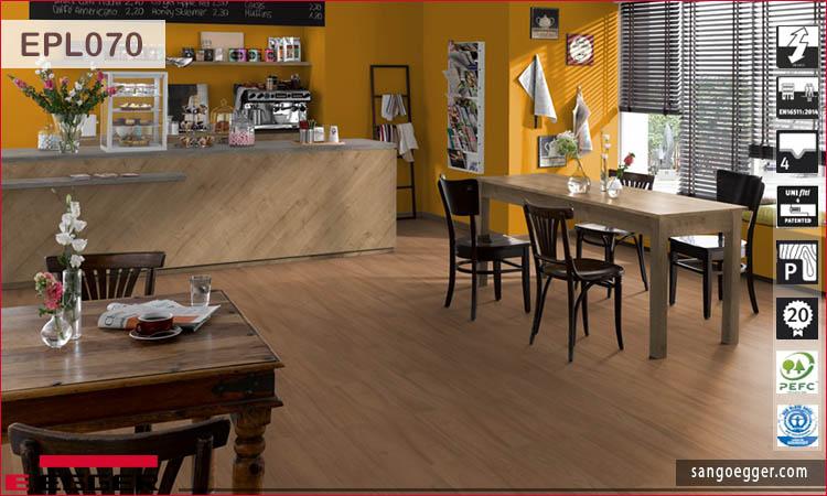 Sàn gỗ Egger Pro Aqua Plus EPL070 Natural Drayton Elm