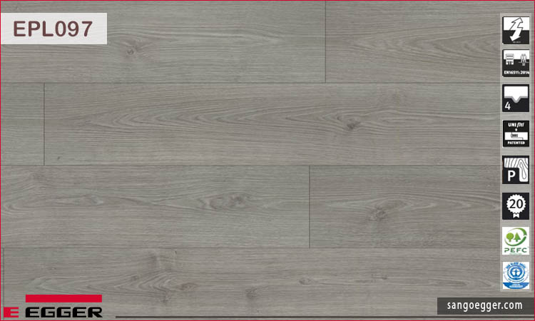Sàn gỗ Egger Pro Aqua Plus EPL097 Grey North Oak