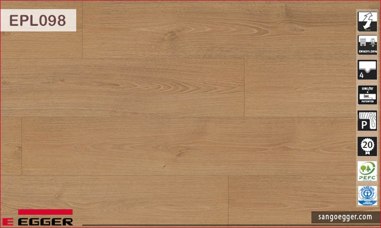 Sàn gỗ Egger Pro Aqua EPL 098 Honey North Oak