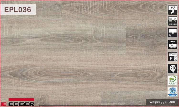 Sàn gỗ Egger EPL036 Bardolino Oak grey