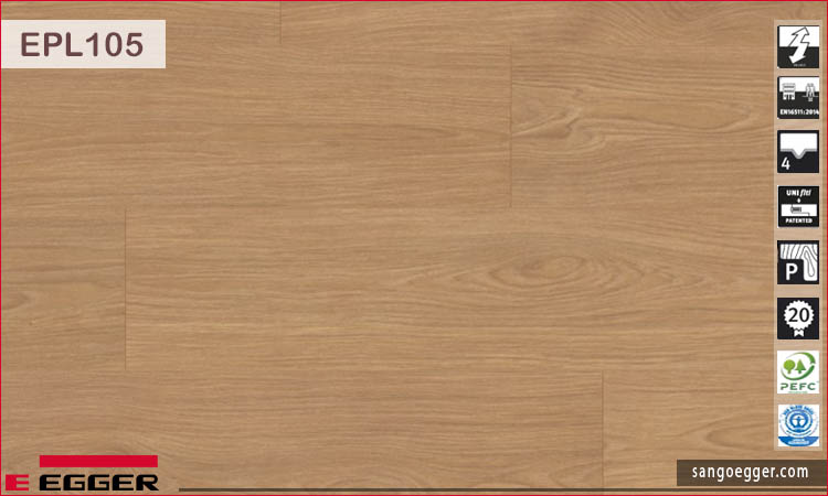 Sàn gỗ Egger EPL105 Shannon Oak honey