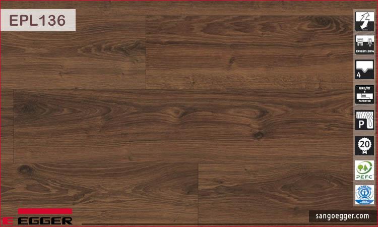 Sàn gỗ Egger EPL136 Lasken Oak