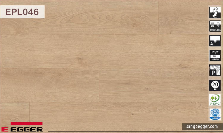 Sàn gỗ Egger Pro Aqua Plus EPL046 Light Newbury Oak