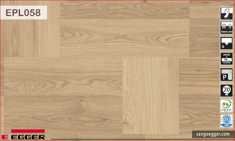 Sàn gỗ Egger KingSize EPL058 Natural Clifton Oak