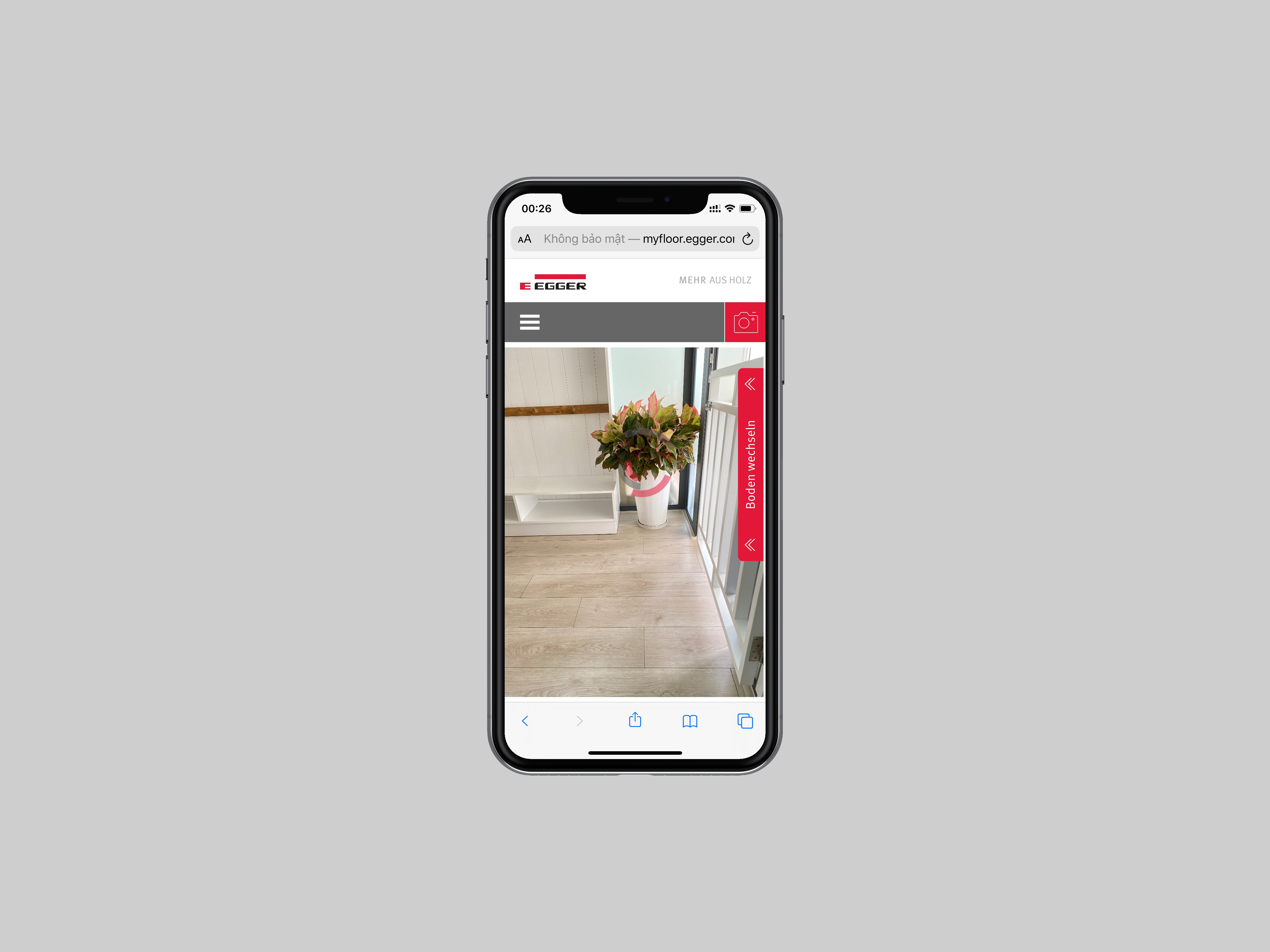 Ứng dụng thiết kế sàn gỗ thực tế ảo Egger Visualizer Mobile