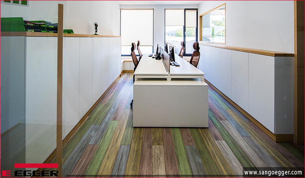 Phòng làm việc sử dụng ván sàn gỗ Egger
