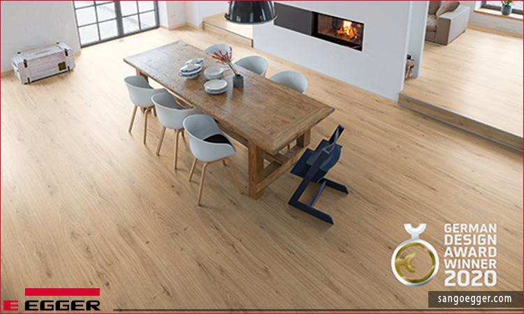 """""""Người chiến thắng"""" tại Giải thưởng Thiết kế Đức: Sàn gỗEGGER PRO Comfort EPC014 Natural Waldeck Oak"""