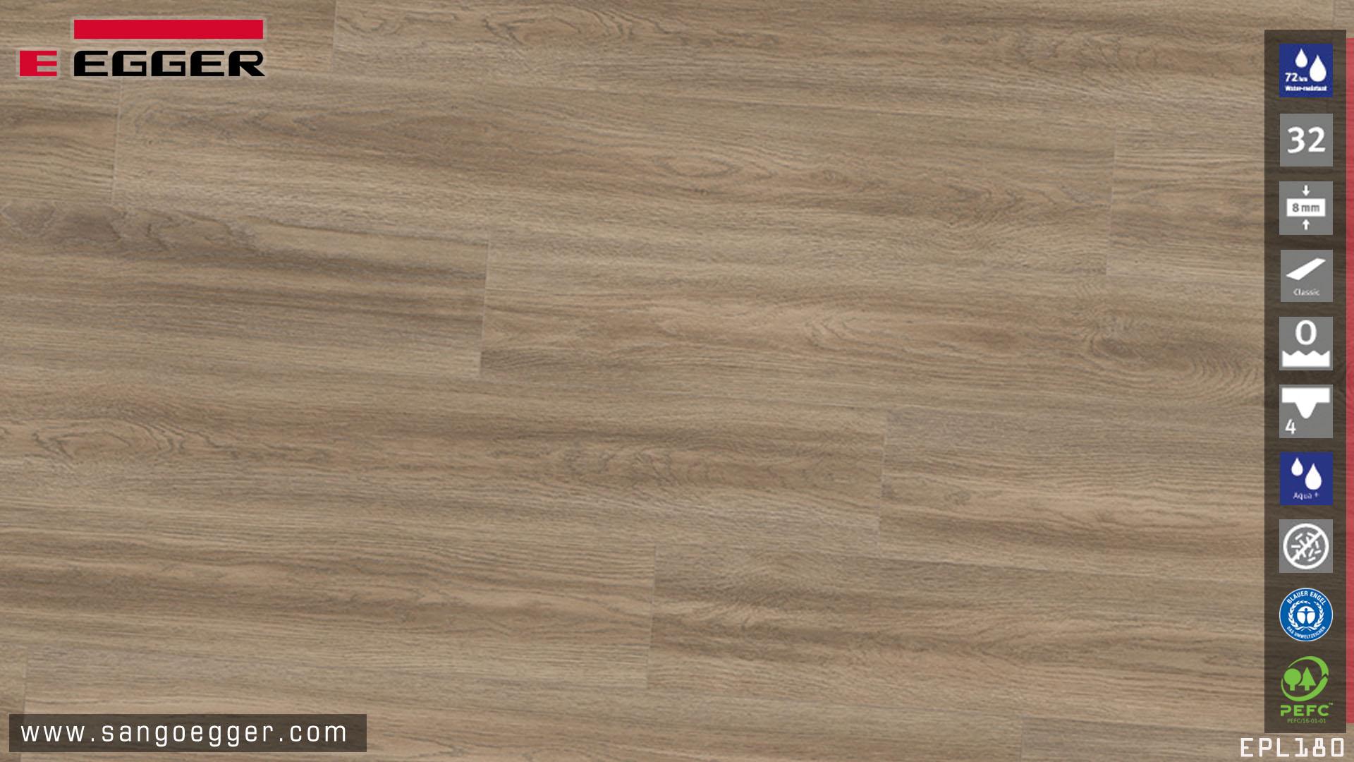 Bề mặt sàn gỗ Egger EPL180 Aqua bản 8mm siêu chịu nước