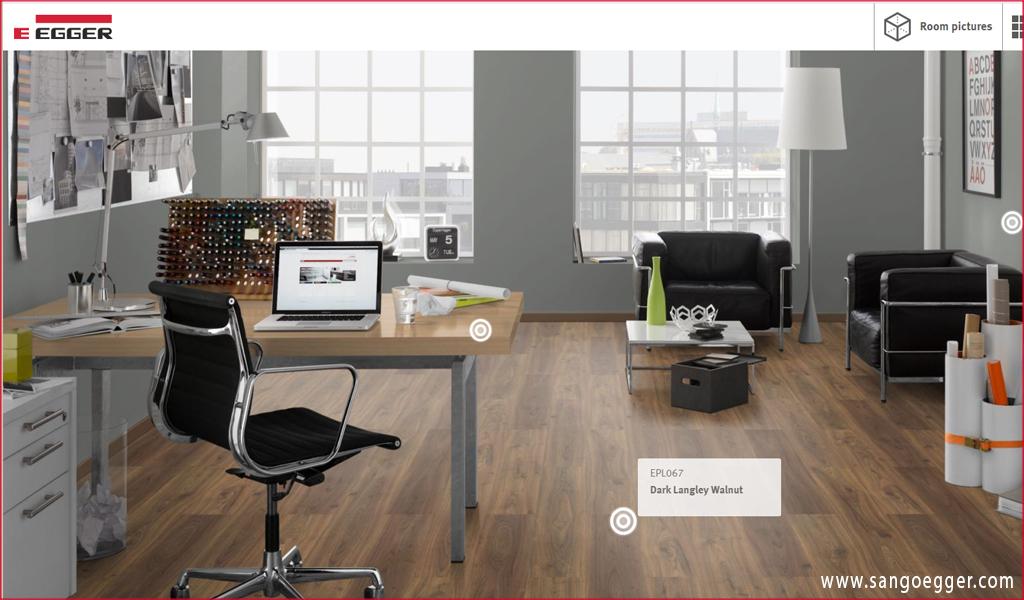 Chọn lựa mô phỏng ván sàn Egger trên hệ thống online hiện đại