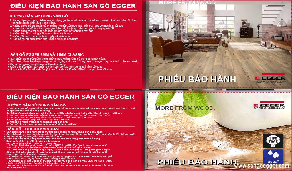 Phiếu bảo hành sàn gỗ Egger