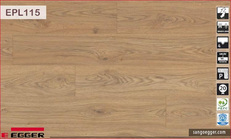 Sàn gỗ Egger EPL 115 Natural Starwell Oak