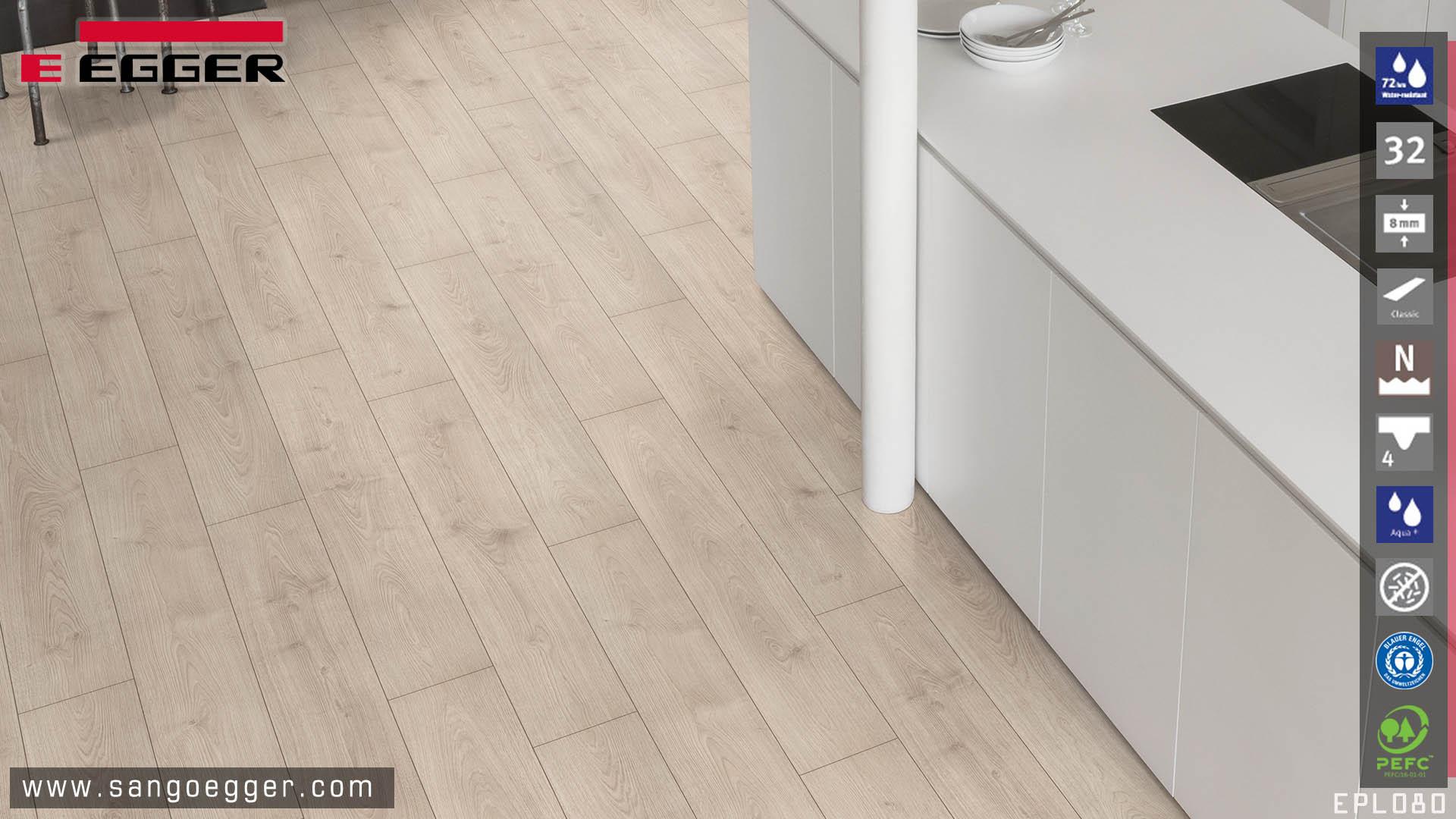 Egger Aqua EPL080 sàn gỗ chuyên dụng cho khu vực bếp