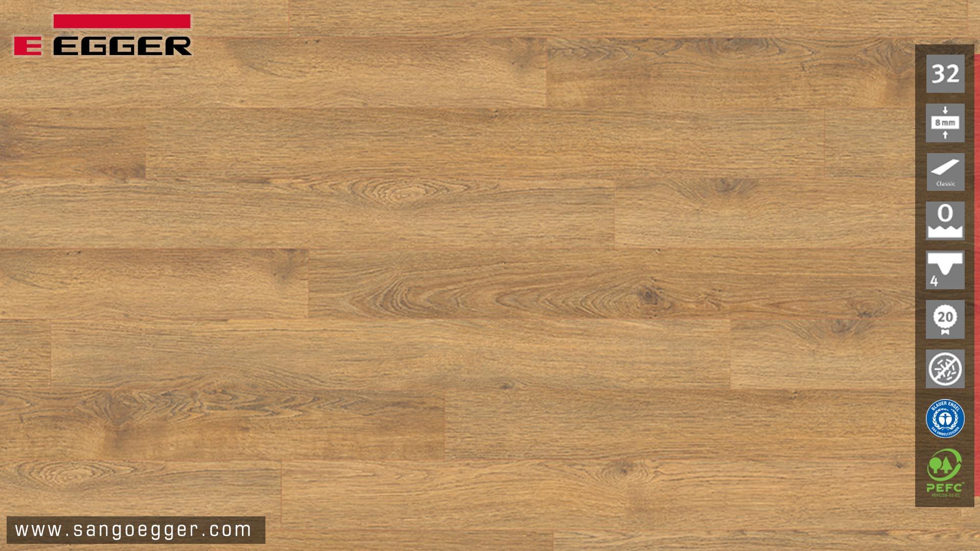 Phân phối màu ghép nhiều tấm của sàn gỗ Egger EPL096 Classic
