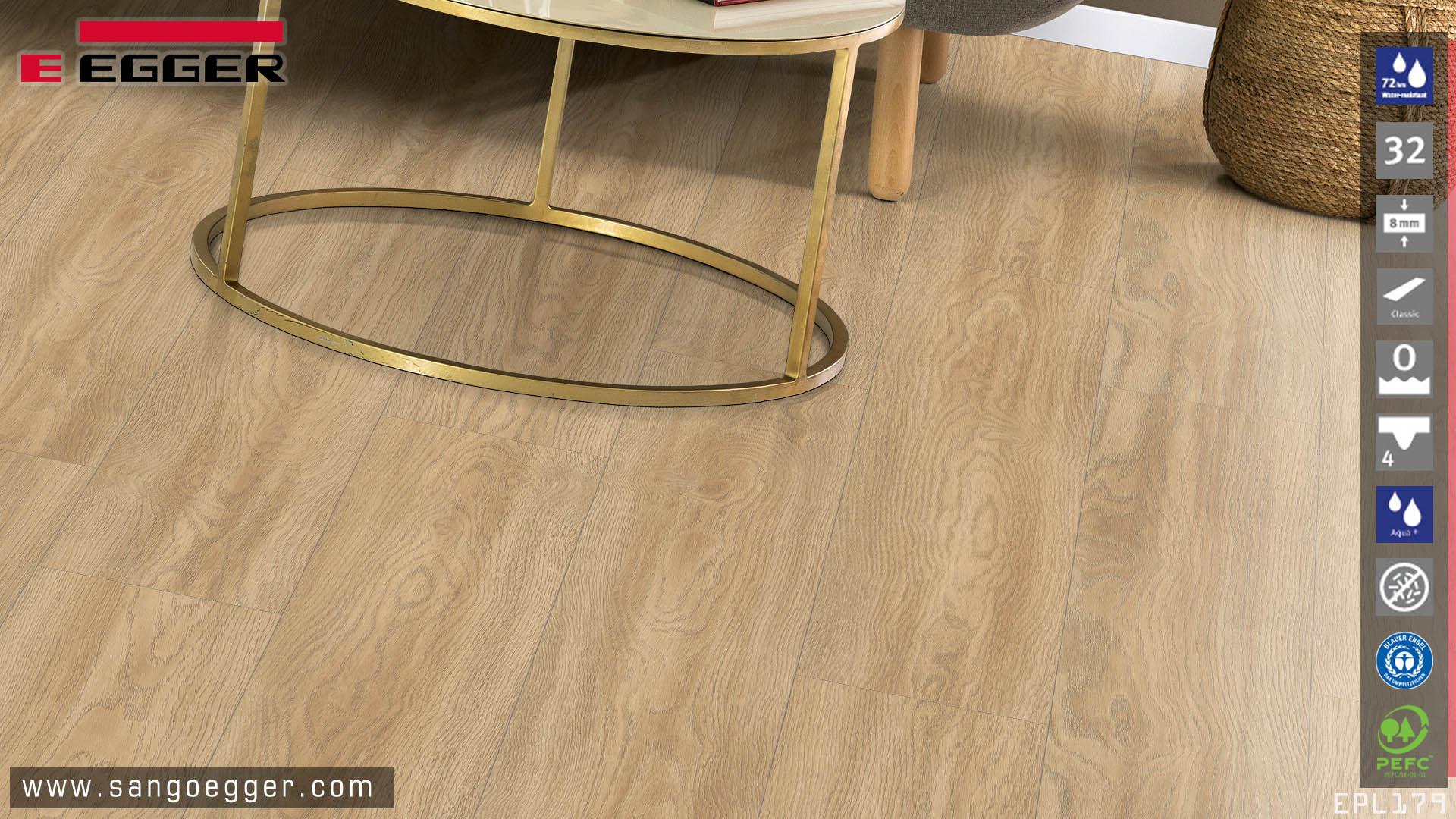 Sàn gỗ Đức cao cấp siêu chịu nước Egger EPL179 Aqua+