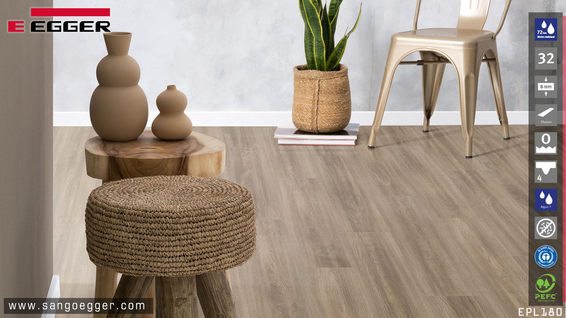 Sàn gỗ Egger EPL180 Aqua+ Grey Soria Oak