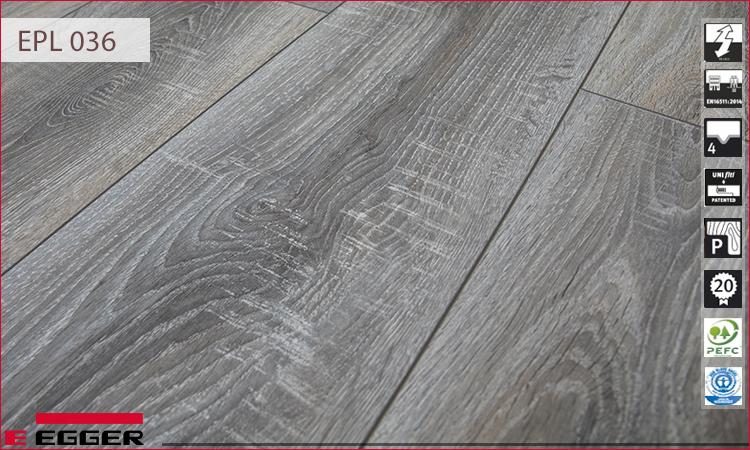 Sàn gỗ màu sồi trắng Egger EPL 036