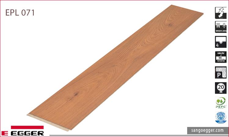 Sàn gỗ Egger màu gõ Đỏ EPL 071