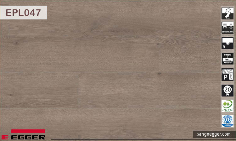 Sàn gỗ Egger Pro Aqua Plus EPL047 Dark Newbury Oak
