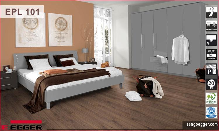 Sàn gỗ Egger EPL101 Zermatt Oak Mocca
