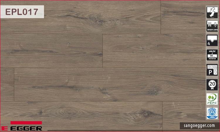 Sàn gỗ Egger Pro Aqua Plus EPL017 La Mancha Oak smoke