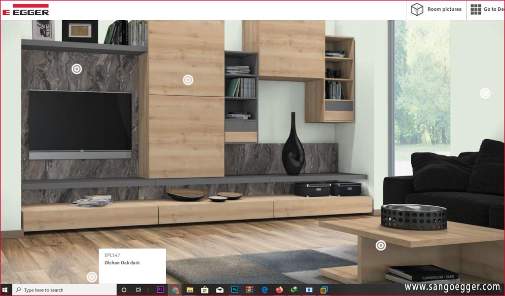 Sử dụng hệ thống thiết kế ảo hóa của Egger Flooring